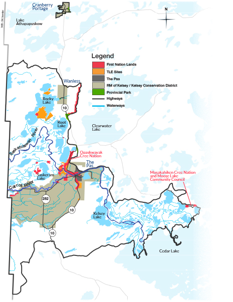 Features of the Carrot-Saskatchewan River Watershed
